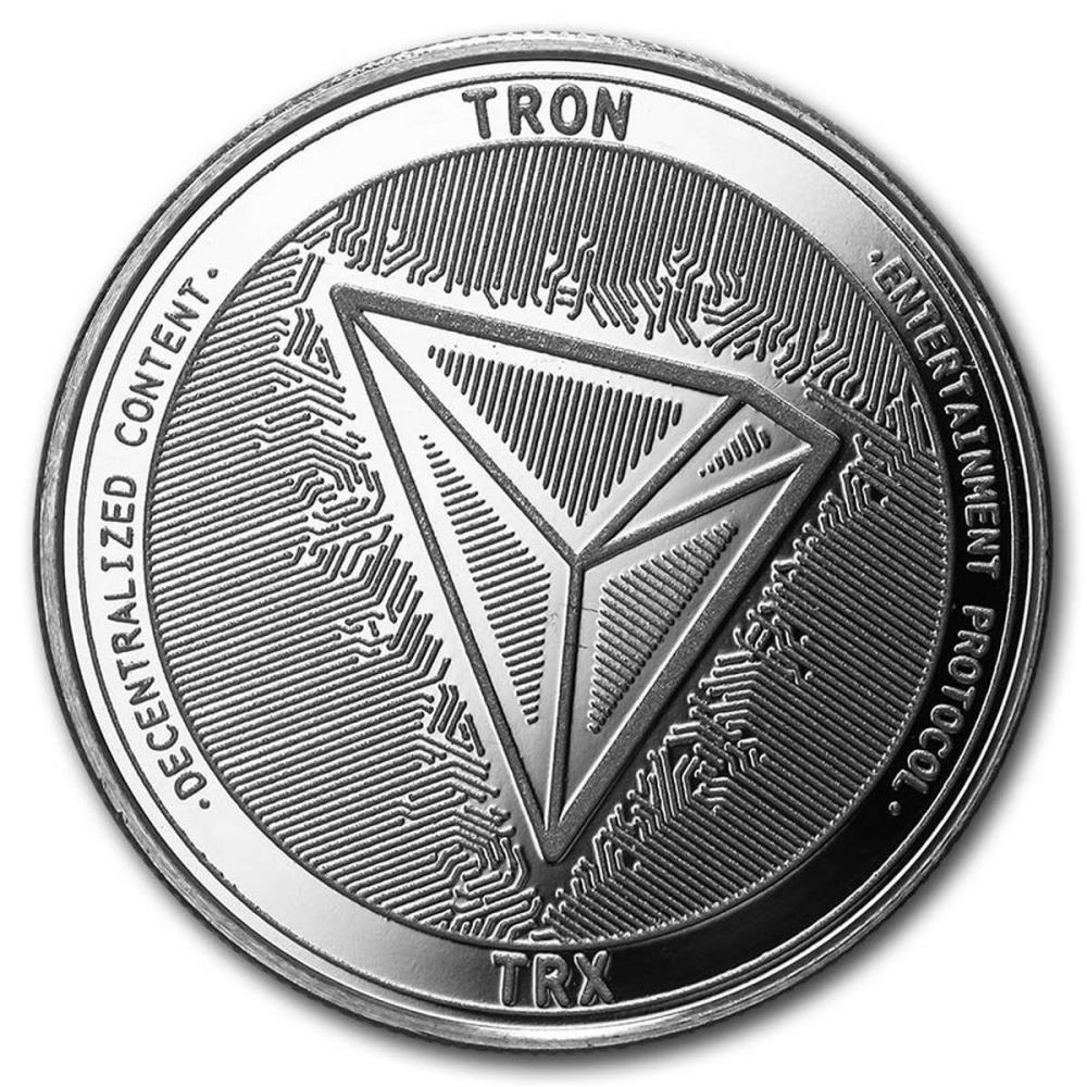 1 oz Silver Bullion Cryptocurrency Tron Round .999 fine #PAPPS57999