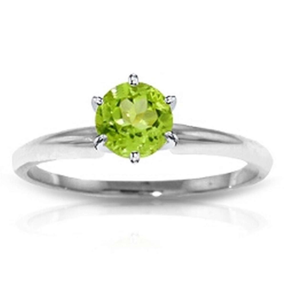 CERTIFIED 14K 1.00 CTW PERIDOT SOLITAIRE RING #PAPPS84629