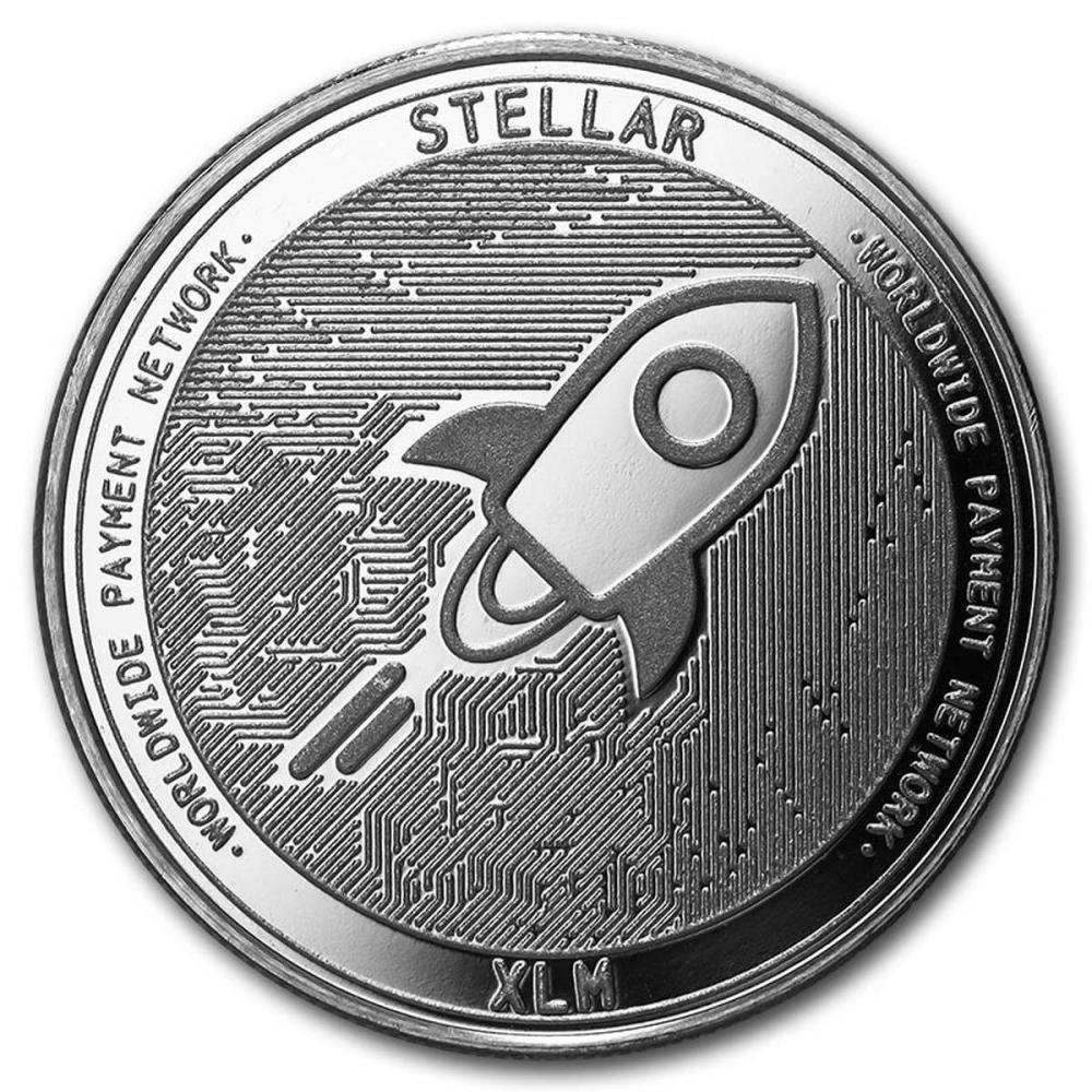 1 oz Silver Bullion Cryptocurrency Stellar Round .999 fine #PAPPS58001