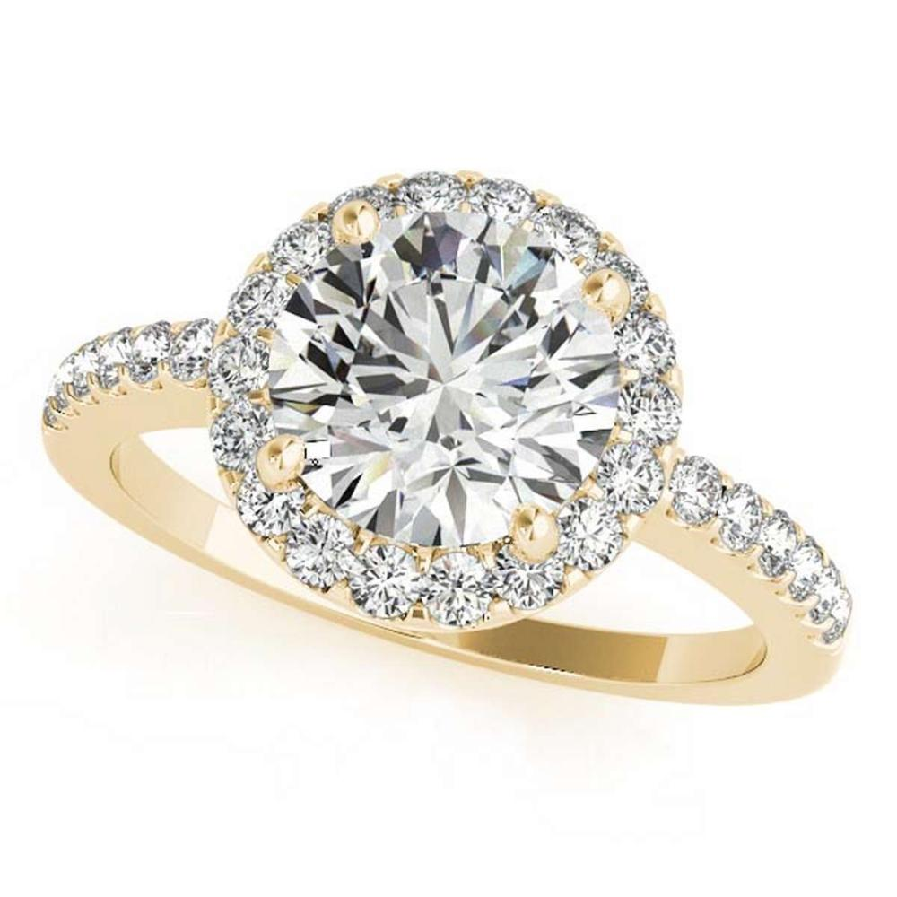 CERTIFIED 18K YELLOW GOLD .85 CT G-H/VS-SI1 DIAMOND HALO ENGAGEMENT RING #PAPPS86422