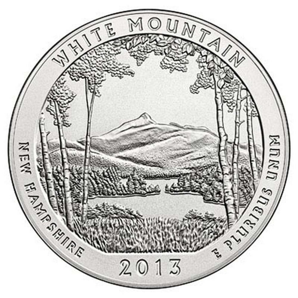 2013 Silver 5oz. White Mountain ATB #PAPPS57957