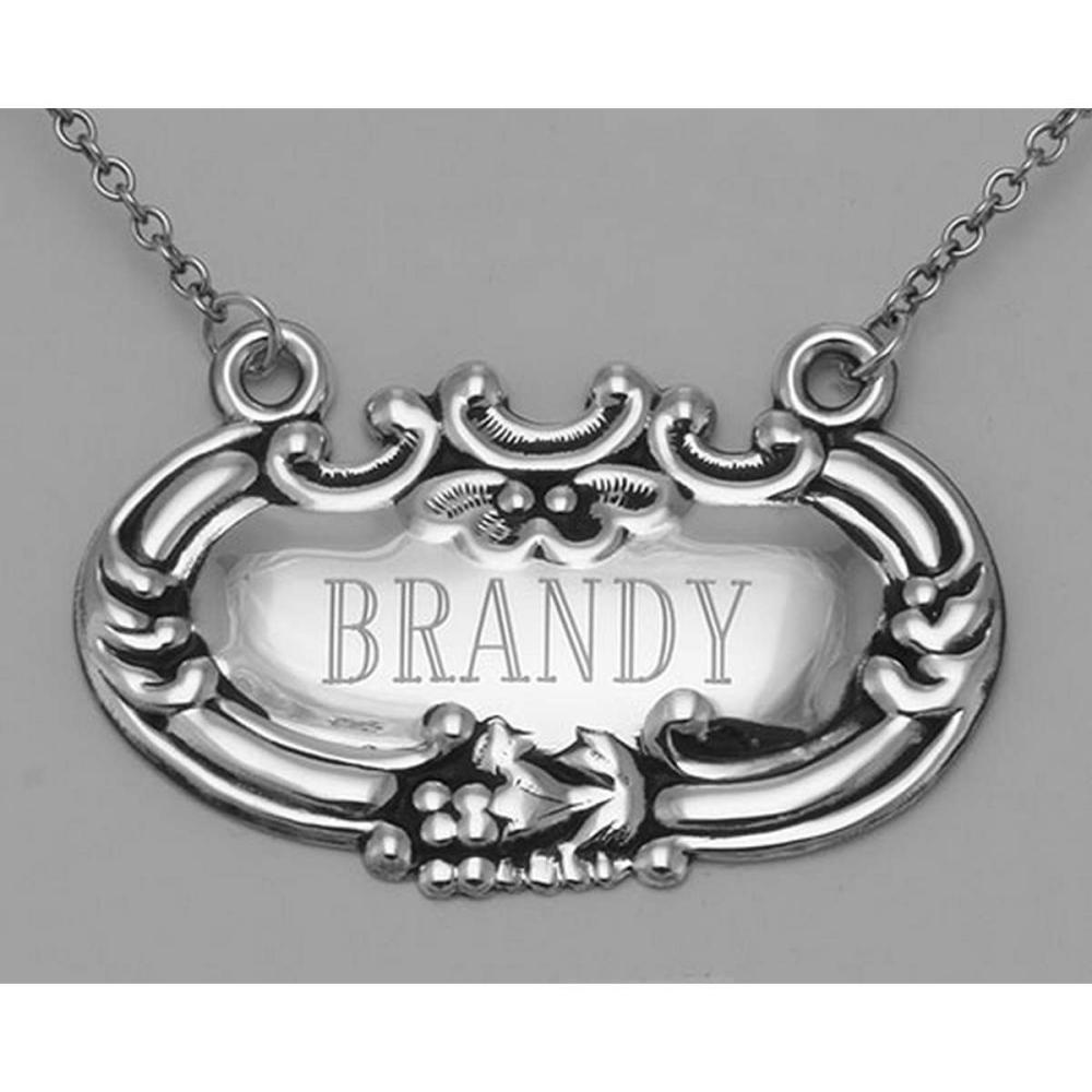 Brandy Liquor Decanter Label / Tag - Sterling Silver #PAPPS97999