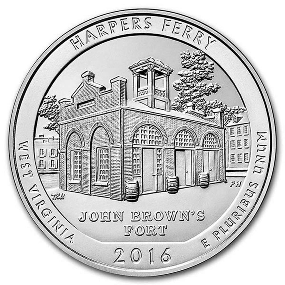 2016 Silver 5oz. Harpers Ferry ATB #PAPPS57981
