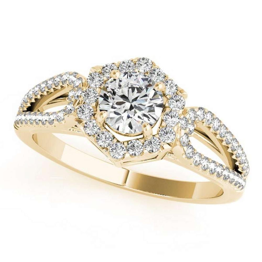 CERTIFIED 18K YELLOW GOLD 1.38 CT G-H/VS-SI1 DIAMOND HALO ENGAGEMENT RING #PAPPS86455