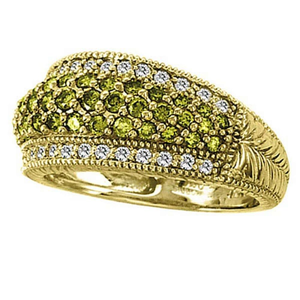 White and Yellow Canary Diamond Right-Hand Ring 14k Yellow Gold (1.01ct) #PAPPS51656