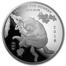 10 oz Silver Round - (2016 Year of the Monkey) #74567v3