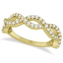 Twisted Infinity Semi-Eternity Diamond Band 14k Yellow Gold (0.60ct) #21372v3