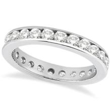 Channel-Set Diamond Eternity Ring Band in Palladium (1.75 ct) #20866v3