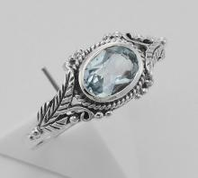 Blue Topaz Ring - Sterling Silver #PAPPS98235
