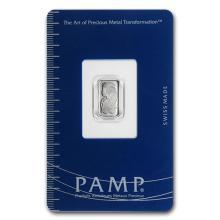 1 gram Platinum Bar - PAMP Suisse (In Assay) #75644v3