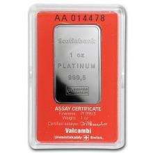 1 oz Platinum Bar - Scotiabank (In Assay) #75651v3