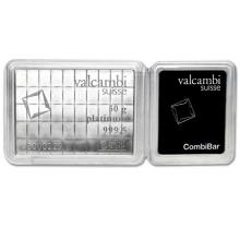 50x 1 gram Platinum CombiBar #75647v3