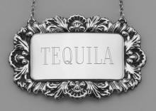 Tequila Liquor Decanter Label / Tag - Sterling Silver #98451v2