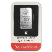 1 oz Platinum Bar - Engelhard (In Assay) #75648v3