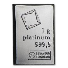 1 gram Platinum Bar - Valcambi #75643v3