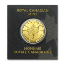 1 gram Gold Maple Leaf - Maplegram 25 #PAPPS75112