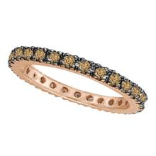 Champagne Diamond Eternity Ring Band in 14k Rose Gold (0.50ct) #PAPPS20970