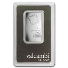 1 oz Platinum Bar - Valcambi (In Assay) #75631v3