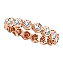 Bezel-Set Diamond Eternity Ring Band 14k Rose Gold (1.00ct) #PAPPS21072