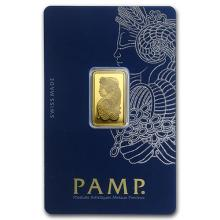 5 gram Gold Bar - PAMP Suisse Lady Fortuna Veriscan (In Assay) #PAPPS75108