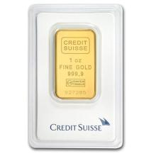 1 oz Gold Bar - Credit Suisse (In Assay) #PAPPS75087