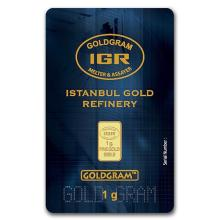 1 gram Gold Bar - Istanbul Gold Refinery (In Assay) #PAPPS75102