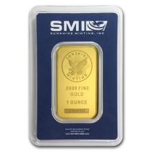 1 oz Gold Bar - Sunshine New Design (In TEP Packaging) #PAPPS75111