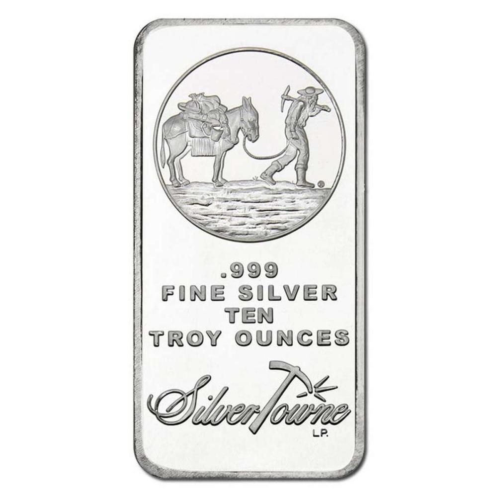 Random Manufacturer Silver Bar 10 oz #PAPPS84517