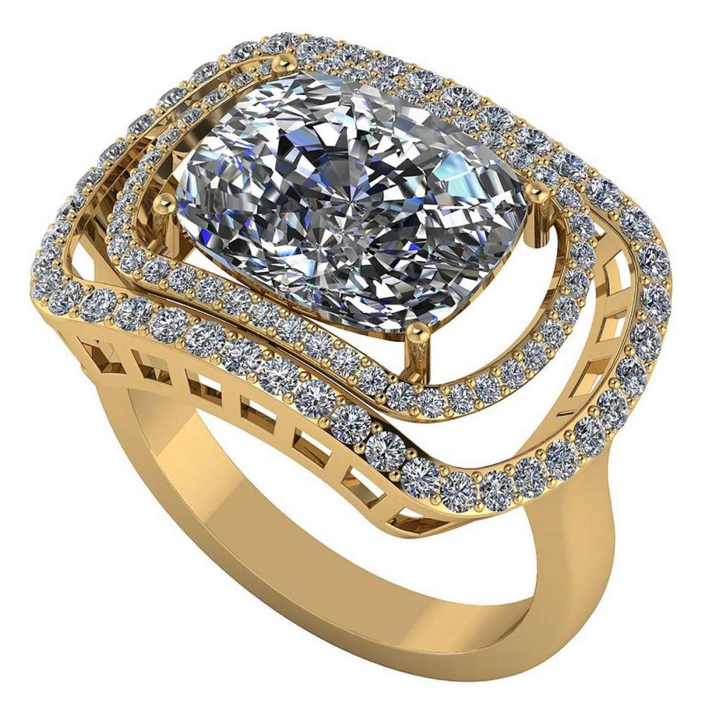 Certified 2.10 CTW Round and Cut Diamond 14K Yellow Gold Ring #PAPPS92112