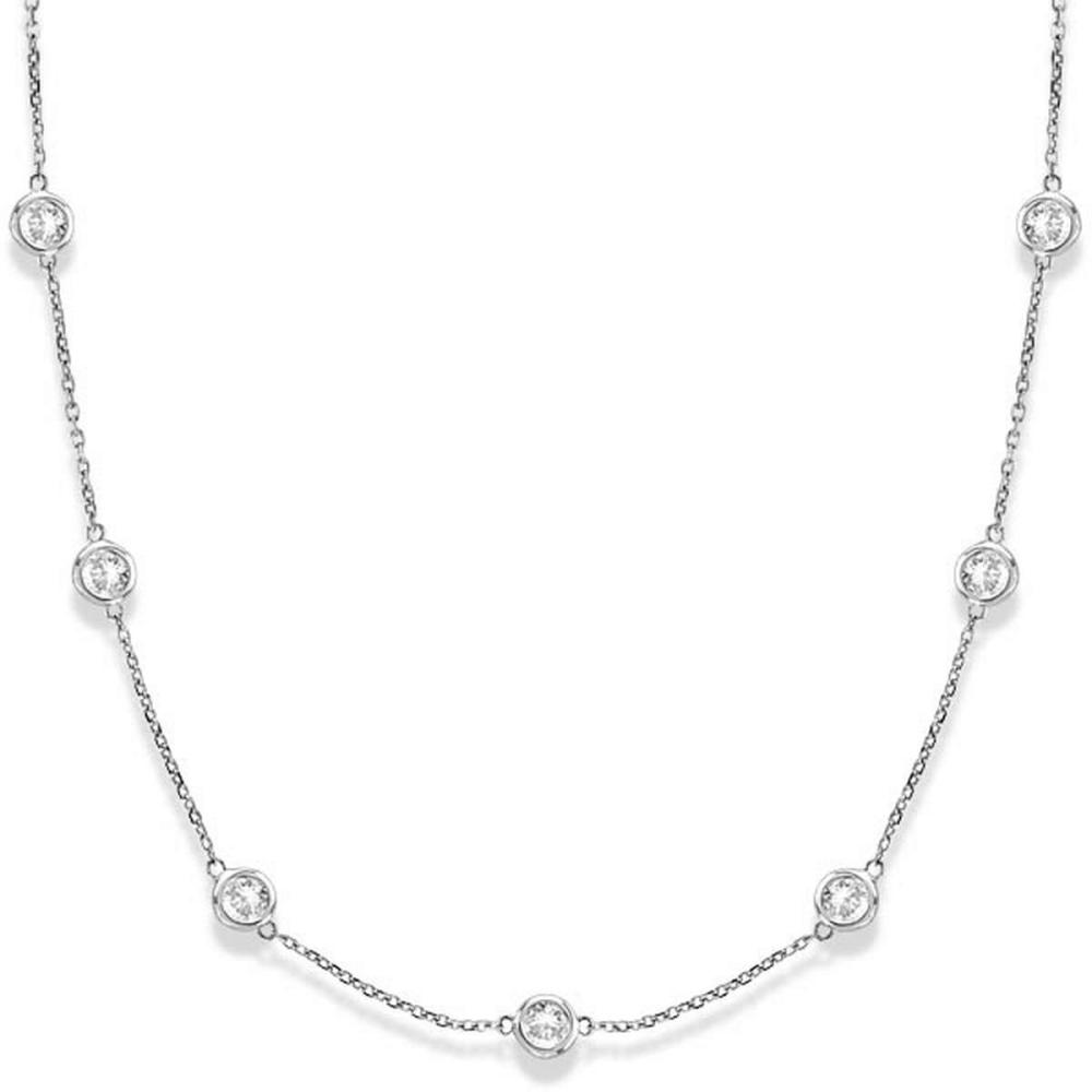 Diamonds by The Yard Bezel-Set Necklace 14k White Gold (3.00ct) #PAPPS20386