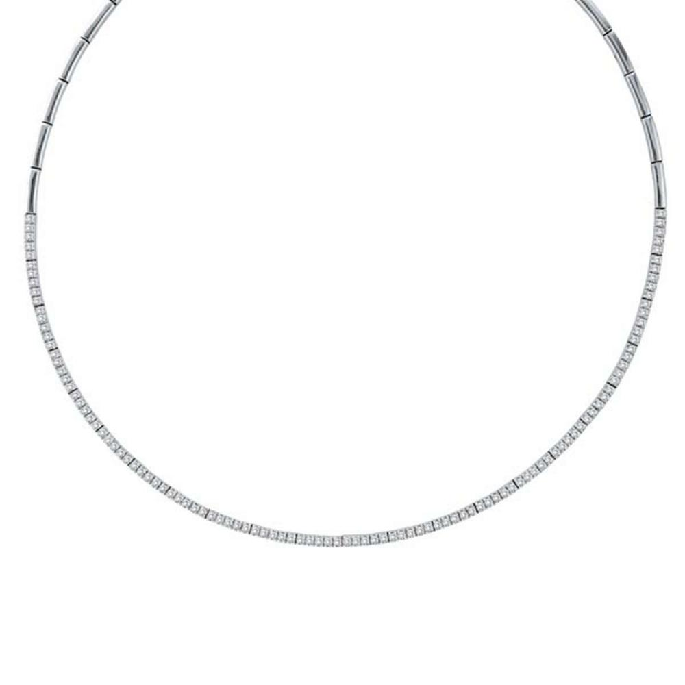 Diamond Tennis Choker Necklace in 14k White Gold (2.31ct) #PAPPS20467