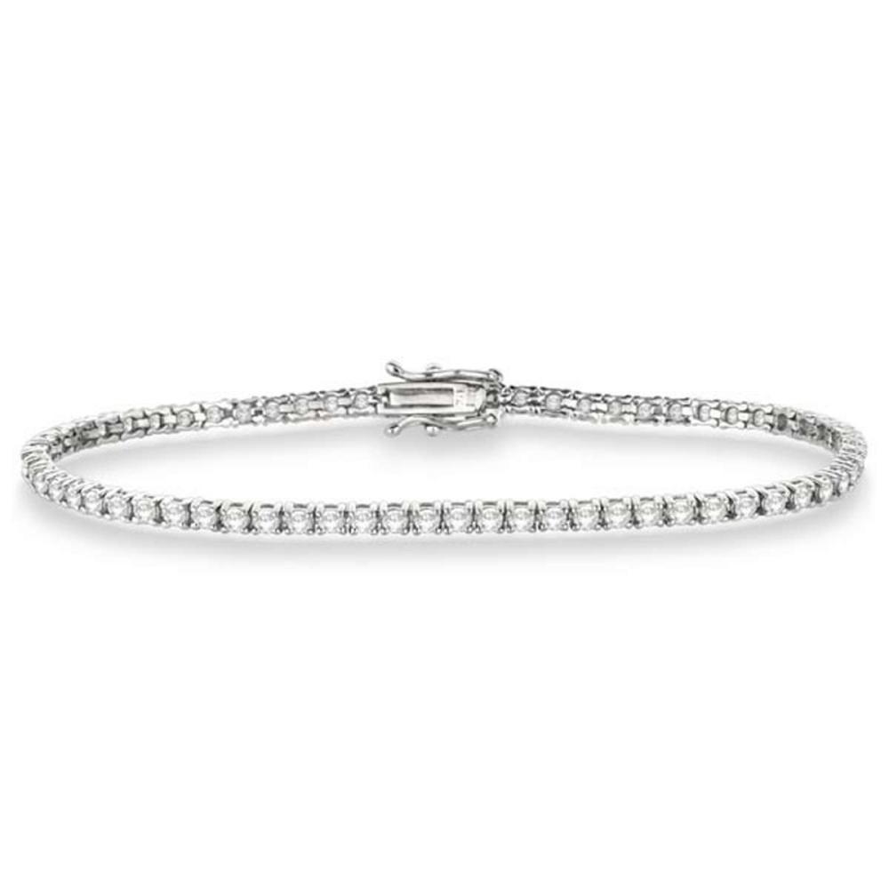 Eternity Diamond Tennis Bracelet 14k White Gold (3.51ct) #PAPPS20430