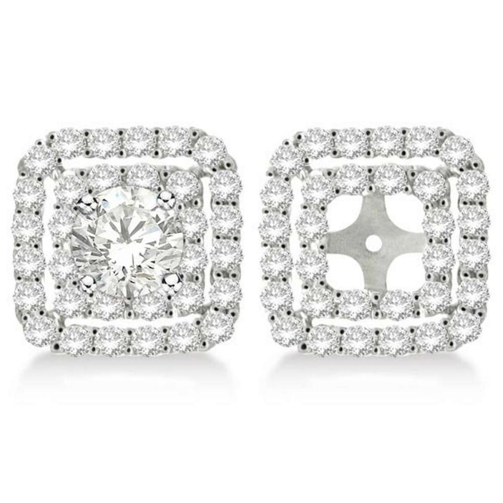 Pave-Set Square Diamond Earring Jackets in 14k White Gold (1.05ct) #PAPPS20433