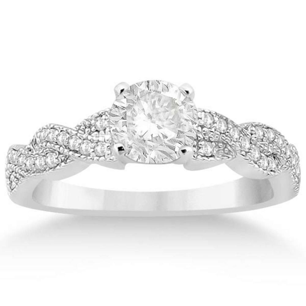 Infinity Twisted Diamond Engagement Ring 14k White Gold (1.15ct) #PAPPS20846