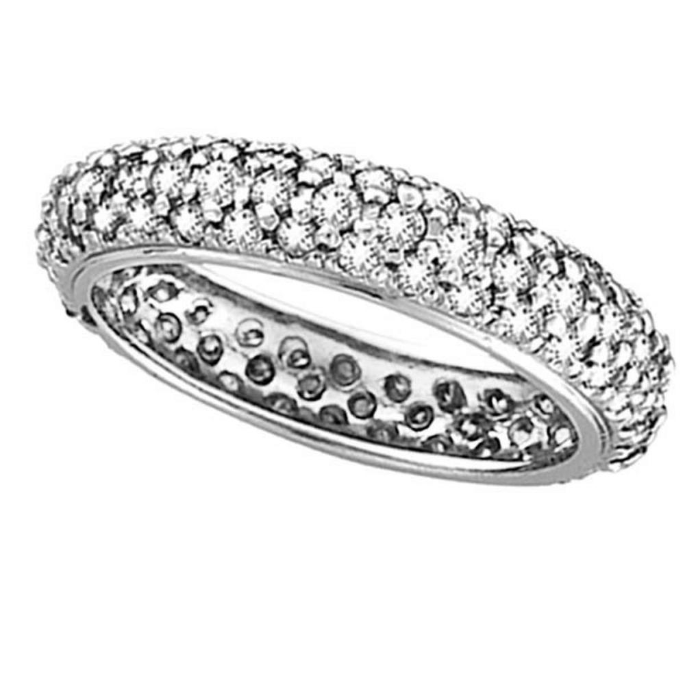 Pave Set Eternity Diamond Ring Band in 14K White Gold (1.58 ctw) #PAPPS20842
