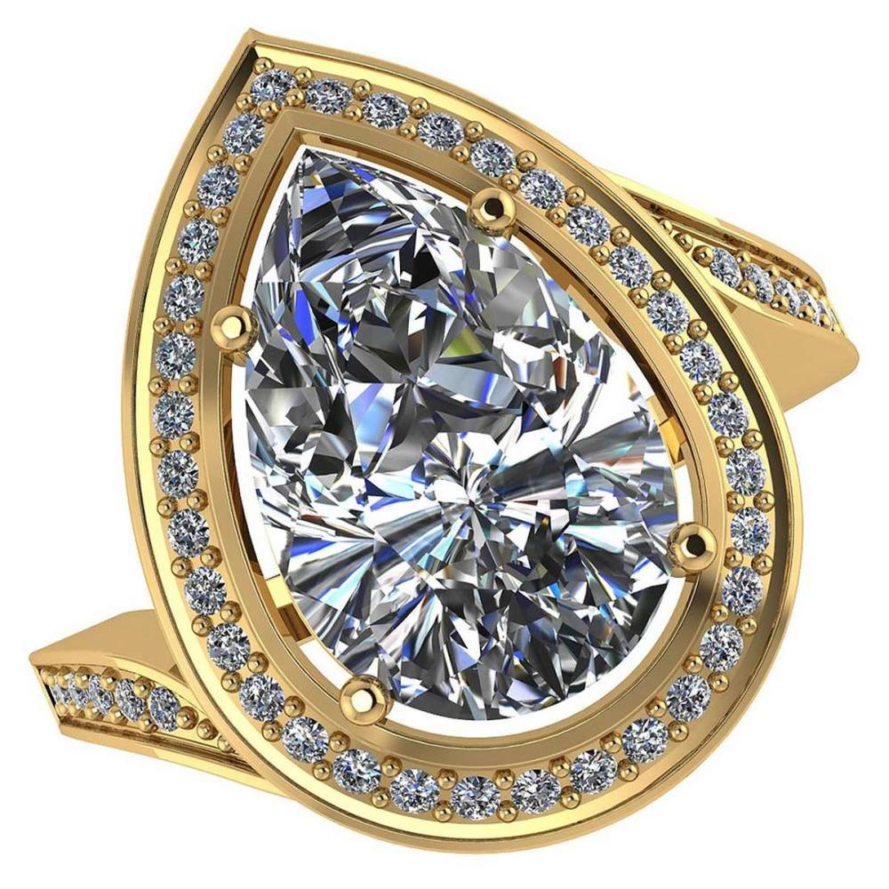 Certified 1.60 CTW Pear Diamond 14K Yellow Gold Ring #PAPPS92121