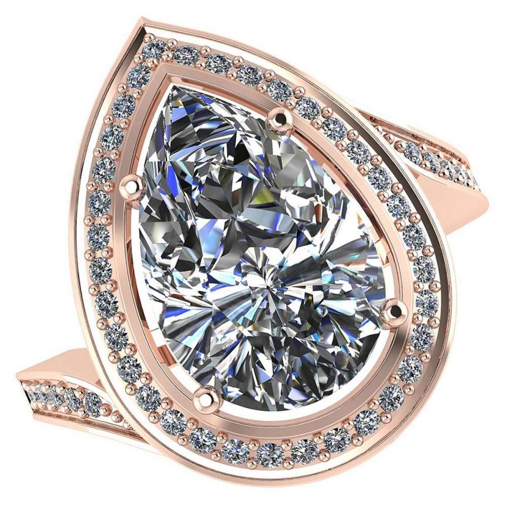 Certified 1.60 CTW Pear Diamond 14K Rose Gold Ring #PAPPS92120
