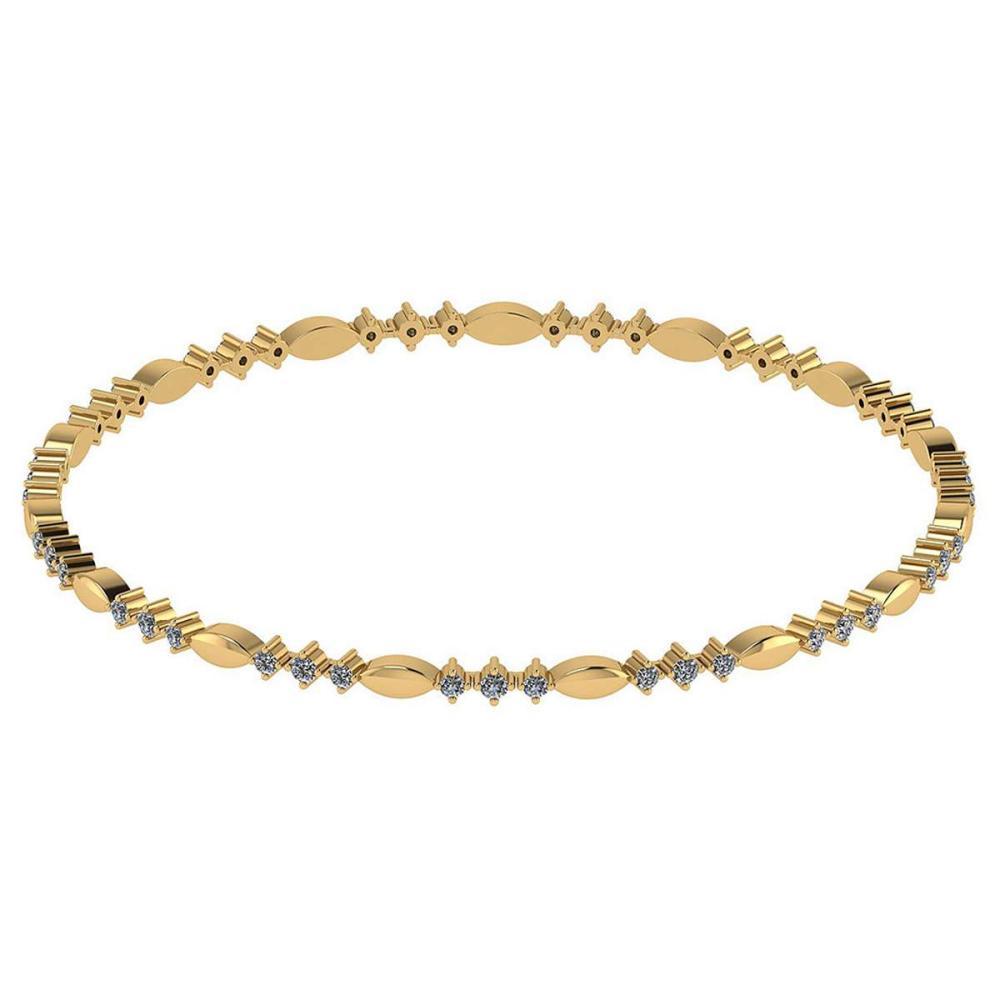 Certified 1.20 CTW Diamond Genuine 14K Yellow Gold Simple Bracelet #PAPPS93471