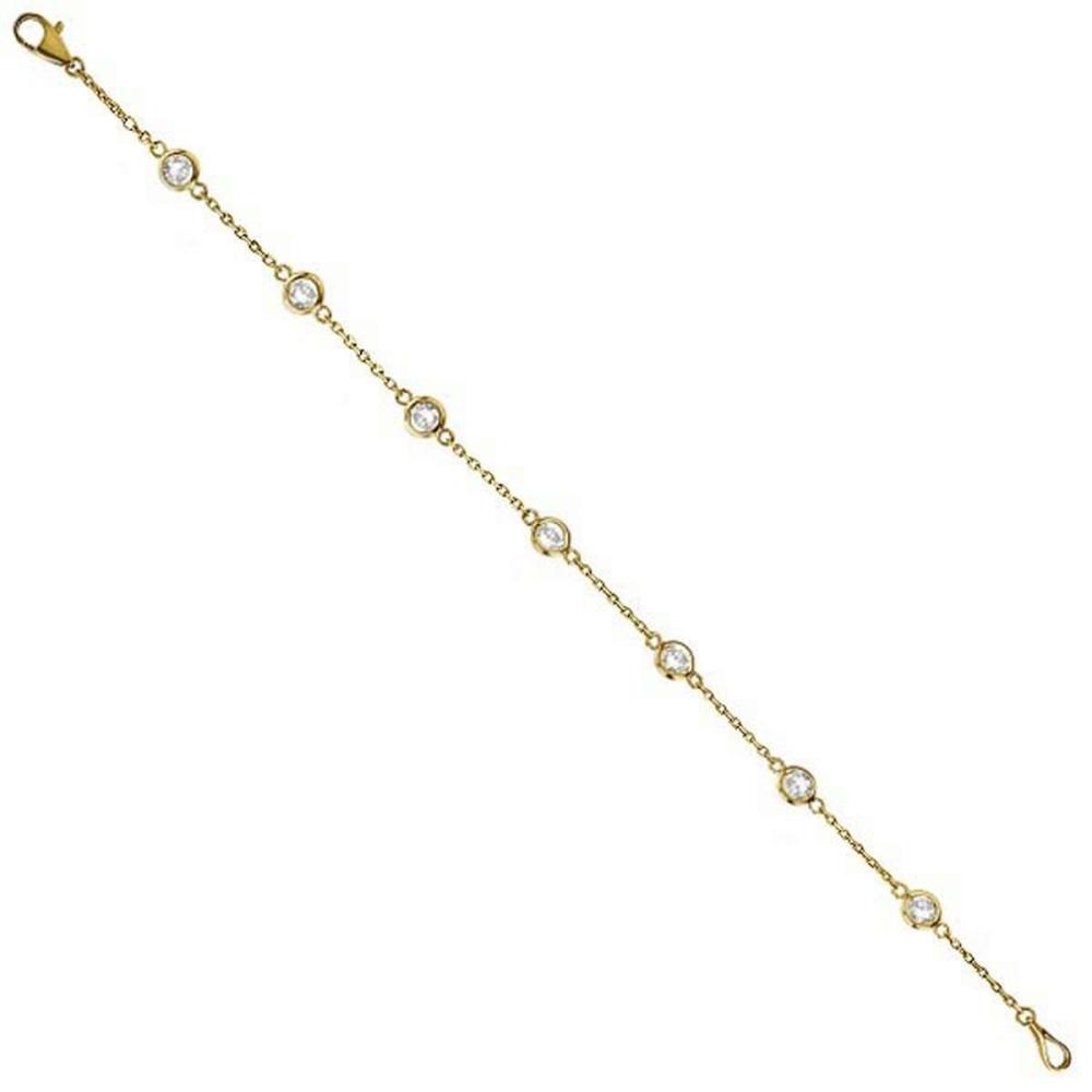 Diamonds by The Yard Bezel-Set Bracelet 14K Yellow Gold (0.50ct) #PAPPS20862