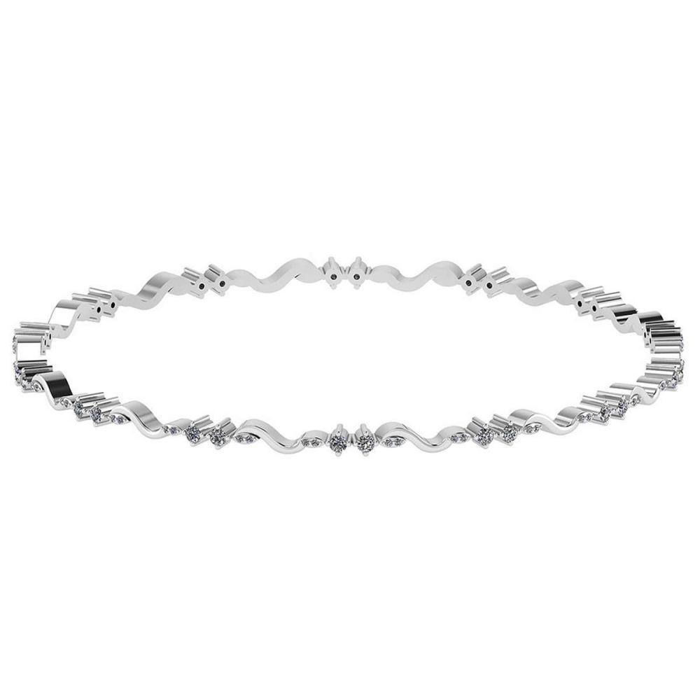 Certified 3.40 CTW Diamond Genuine 14K White Gold Simple Bracelet #PAPPS93470