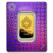 1 oz Gold Bar - Scottsdale Mint (In Certi-Lock #PAPPS75146