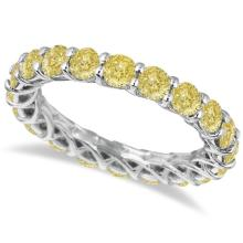 Fancy Yellow Canary Diamond Eternity Ring Band 14k White Gold (3.50ct) #PAPPS20410
