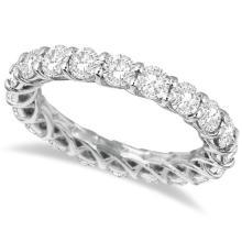 Luxury Diamond Eternity Anniversary Ring Band 14k White Gold (3.50ct) #PAPPS20403