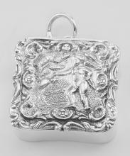 Antique Style Angel Keepsake Pillbox - Sterling Silver #PAPPS97370