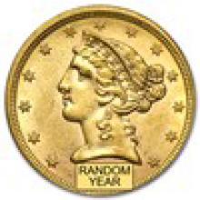 $5 Liberty Gold Half Eagle AU (Random Year) #PAPPS93208