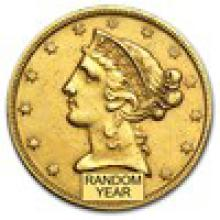 $5 Liberty Gold Half Eagle (Cleaned) #PAPPS93234