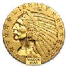 $5 Indian Gold Half Eagle XF (Random Year) #PAPPS93235