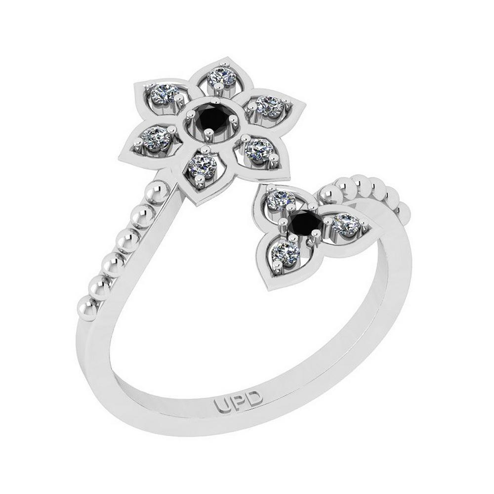 0.30 Ctw i2/i3 Treated Fancy Black and White Diamond 14