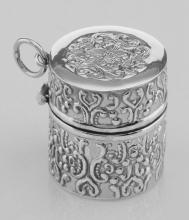 Antique Style Repousse Sewing Thimble Case - Sterling Silver #PAPPS97872