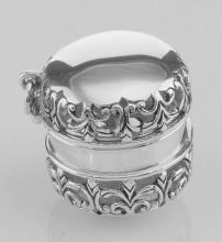 Antique Style Filigree Thimble Case or Aromatherapy Pendant Sterling Silver #PAPPS97873